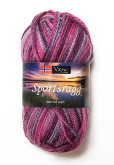 Viking of Norway Sportsragg Garn Ullmix 50g Multirosa 566