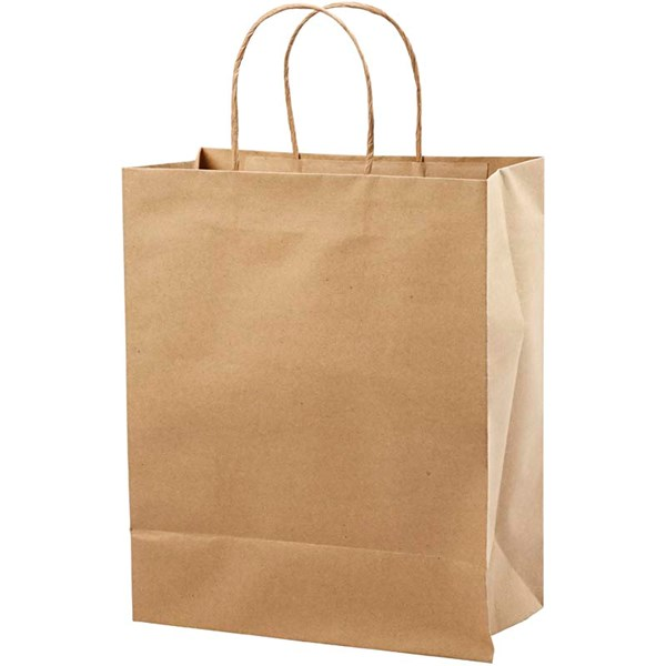 Papirpose, H: 33 cm, B: 26x13 cm, 10stk., 125 g