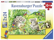 Sweet Koalas and Pandas - 2x24 bitar, Ravensburger