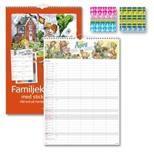 Familjekalender 2019 Burde med stickers