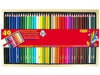 Färgpennor i Trälåda 40 Färger