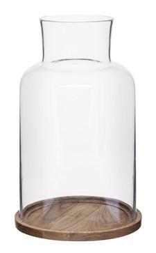 Sagaform Oval Oak Ljuslykta 33 cm Natur