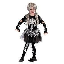 Barndräkt Skelettflicka Large