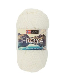 Viking of Norway Froya Garn Ullmix 50g Naturvit 200