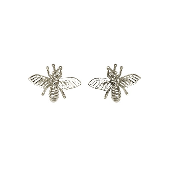 Ioaku Insect Studs Alloy Silver