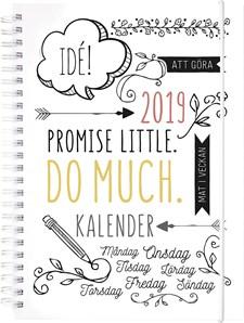 Kalender Veckoplanering Doodle A5 2019