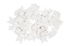 Papirgirlander, Vimpel, Hvit 2,7 m
