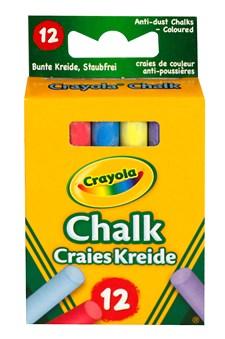 Kritt, Støvfrie, Crayola, Assorterte farger, 12-pack