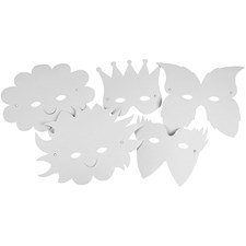 Naamiot, kork. 15-20 cm,  230 g, valkoinen, 5kpl