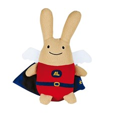 Musical Super Angel Bunny Red 26Cm, Trousselier