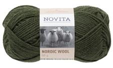 Novita Nordic Wool Garn Ullgarn 50 g, gran 397