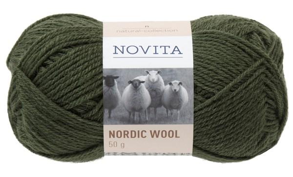 Novita Nordic Wool Lanka Villasekoite 50 g, kuusi 397