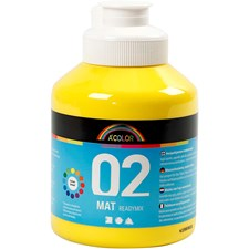 A-Color akryylimaali, 500 ml, peruskeltainen