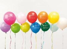 "Ballonger, Rico, 30 cm, text ""Happy birthday"", 12 st."