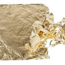 Lehtimetallijäljitelmä, arkki 16x16 cm, 25 ark, kulta