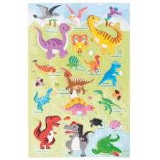 3D Klistremerke Dinosaurie, 10 x 19 cm