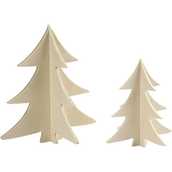 Julgranar 3D Plywood 2 st