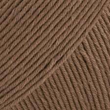 Safran Drops design Garn Bomull 50 g lys brun 22