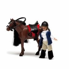 Småland hevonen + tyttö, Lundby