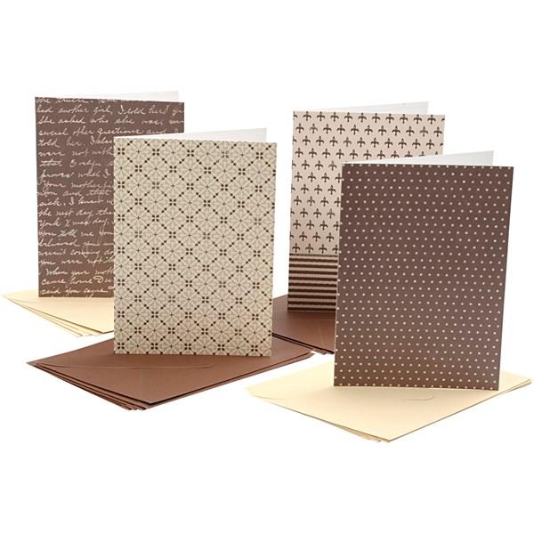 Korttipohjat ja kirjekuoret, kortin koko 10,5x15 cm, 220 g, 16 laj.