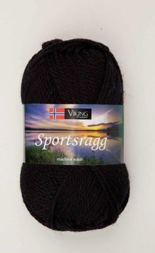 Viking of Norway Sportsragg Garn Ullmix 50g Svart 550