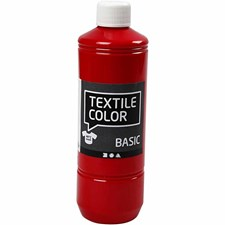 Textile Color Basic, 500 ml, punainen