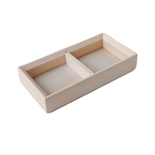 Tray 2 compartments, PILE, White Wash