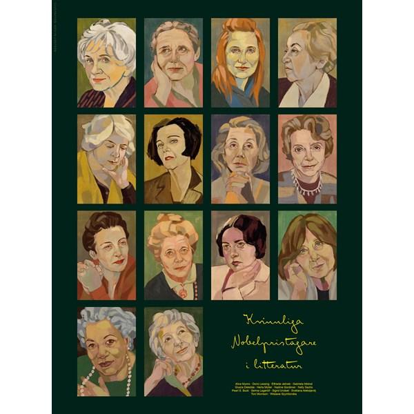 Kvinnliga Nobelpristagare i litteratur Poster 50x70 cm  Wonderwall