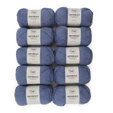 Adlibris Bomull 8/4 Garn 100g Light Denim A130 10-pack