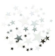 Konfetti Stjärnor Elegant Silver