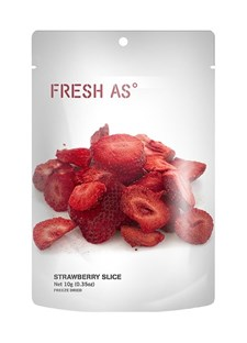 Fresh As Frystorkade Jordgubbar Skivor 10 g