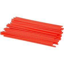 Muovipillit, pit. 12,5 cm, halk. 3 mm, 800 kpl, punainen