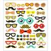 Stickers Glasögon och Skägg ca. 43 st 1 ark