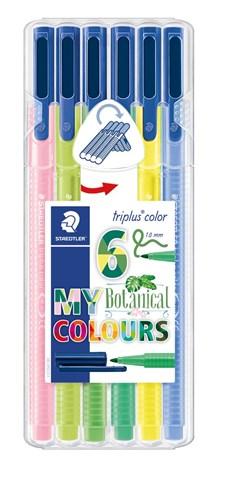 Triplus® color 6-pack, i STAEDTLER-box, 1 mm fiberspets. Botanical