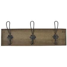 IB Laursen Hängare med 3 krokar Trä/Metall 45 x 16 cm Brun