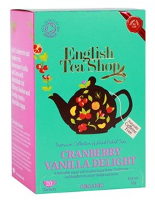 English Tea Shop Te Tranbär & Vanilj Tepåsar 20 st