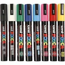 Uni Posca Marker, paksuus: 2,5 mm, PC-5M, 8 kpl, perusvärilajitelma