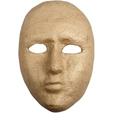 Mask av Papier-Maché 16 cmx23 cm 1 st