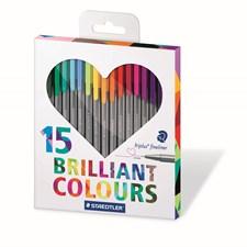 Triplus Fineliner 15-pack Presentförpackning Johanna Basford