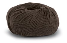 Knit At Home Classic Cotton Merino Garn Ullmix 50 g Mörkbrun 828