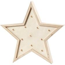 Ljusbox, H: 26 cm, 1 st., plywood