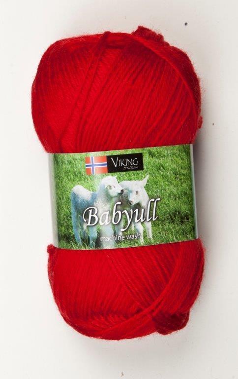Viking of Norway Baby Ull 50 gr Rød 350