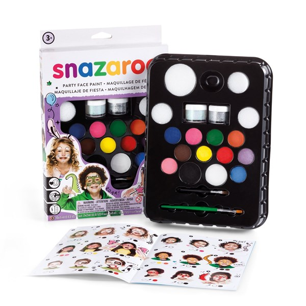 Ansiktsmålning Set Ultimate Party Pack Snazaroo 12 Färger 2 Glitter