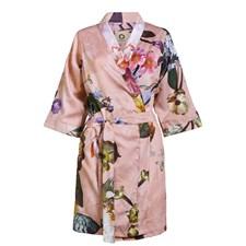 Essenza Home Fleur Kimono Puuvillasatiini Large Vaaleanpunainen