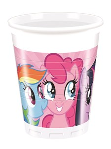 My Little Pony Rainbow Plastmuggar, 8 st