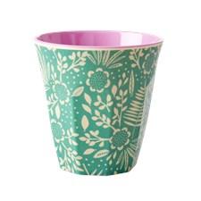 Rice Fern and Flower print Mugg D: 9 cm