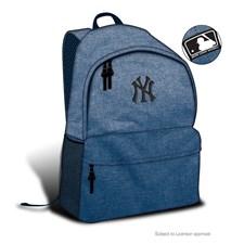 Blå ryggsäck med NY-motiv