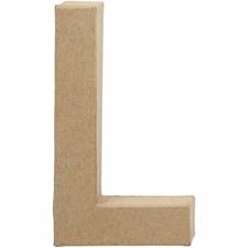 Bokstäver av Papier-Maché L 20,5 cm 1 st