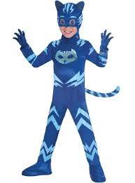 Maskeraddräkt Kattpojken, 5-6 år, Pyjamashjältarna