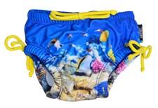 Badblöja, Korallrev/Blå, storlek S, Swimpy